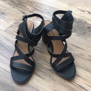 LUCKY BRAND New Sandals Block Heel Size 11 Black